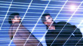 Spiegelung in einer Photovoltaikanlage