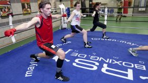 Fitnessboxer beim Training