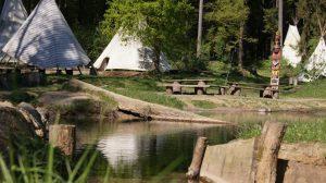 Das Tipidorf im Naturzentrum Lahntal