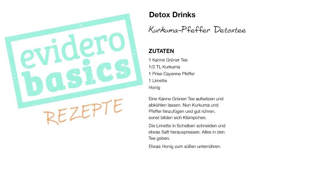Rezepte für Detox-Drinks - Entgiften durch Flüssigkeit   evidero
