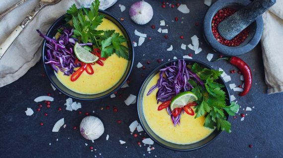 Thai Suppe mit Ingwer